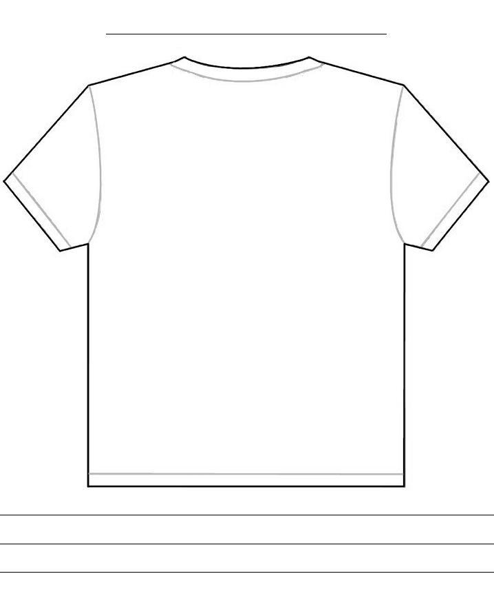 Tshirt Back Template Template For Penultimate