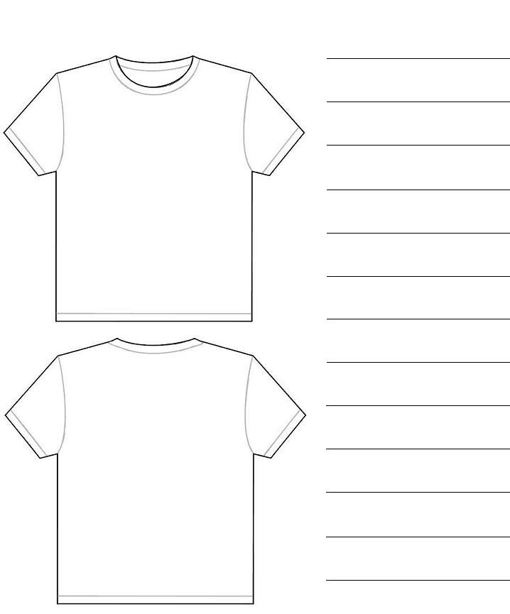 Tshirt design paper templates for Template for t shirt design