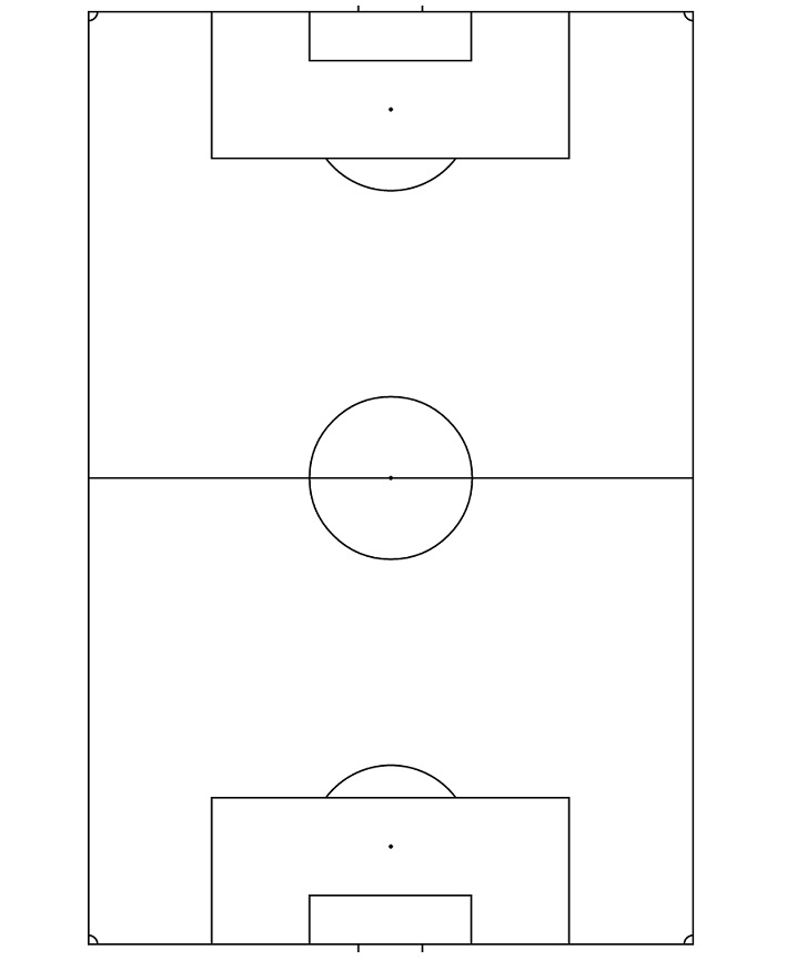 black and white soccer field diagram
