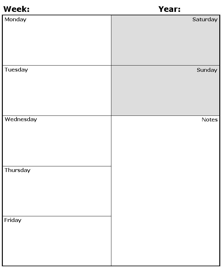 Weekly Calendar. Weekly Calendar With Times Free Printable Weekly