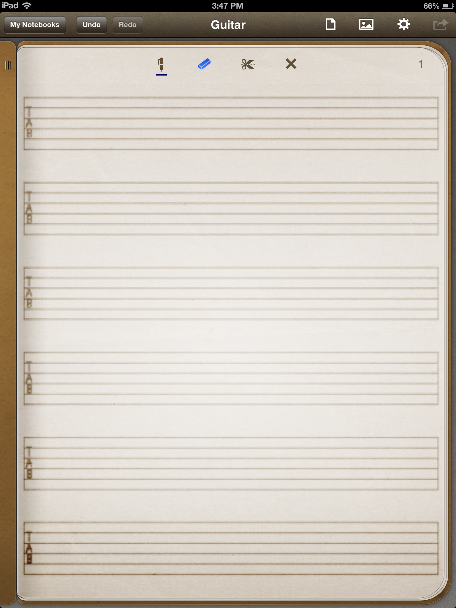 Guitar tabs template