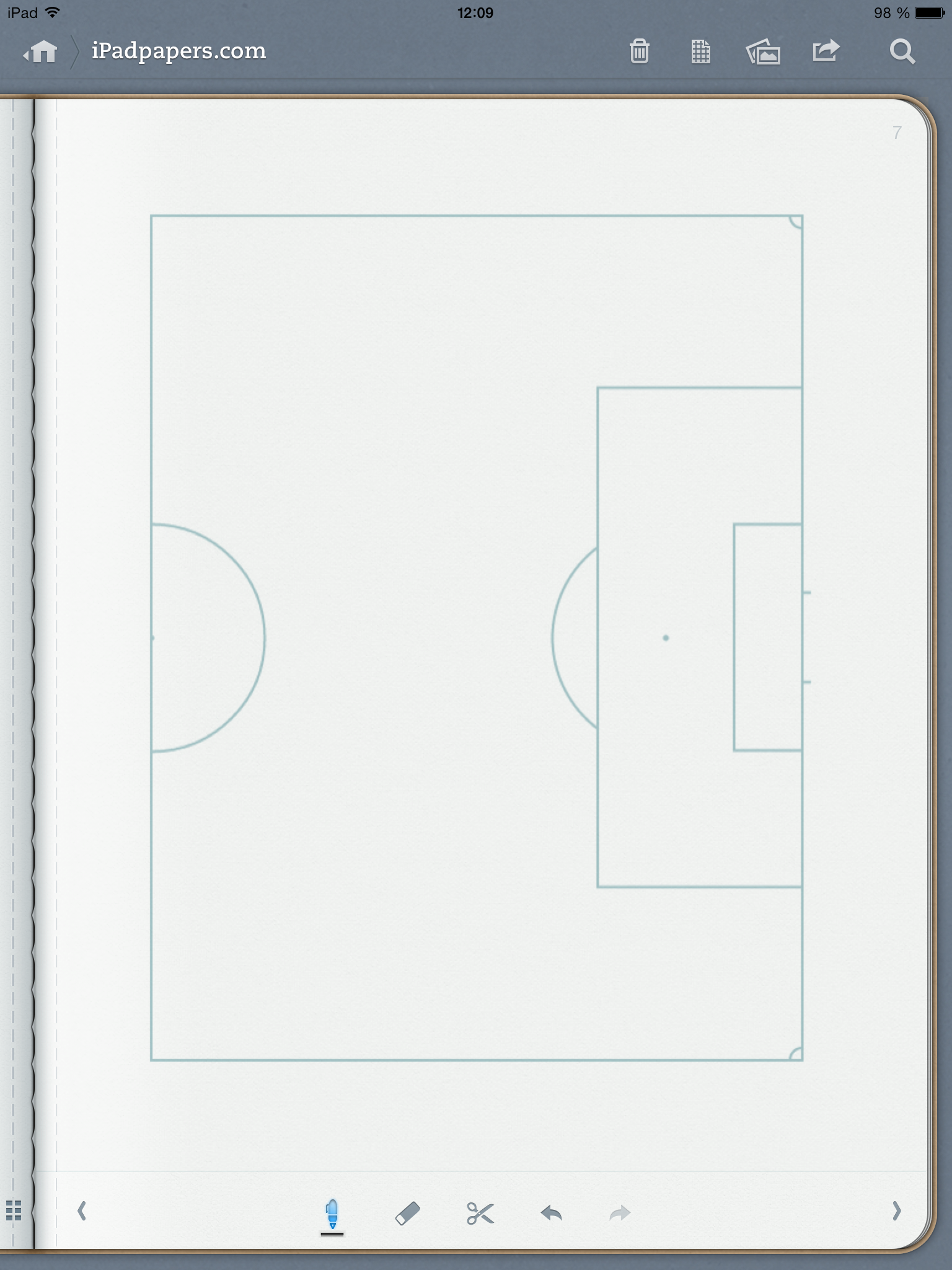 ipadpapers com soccer field paper templates