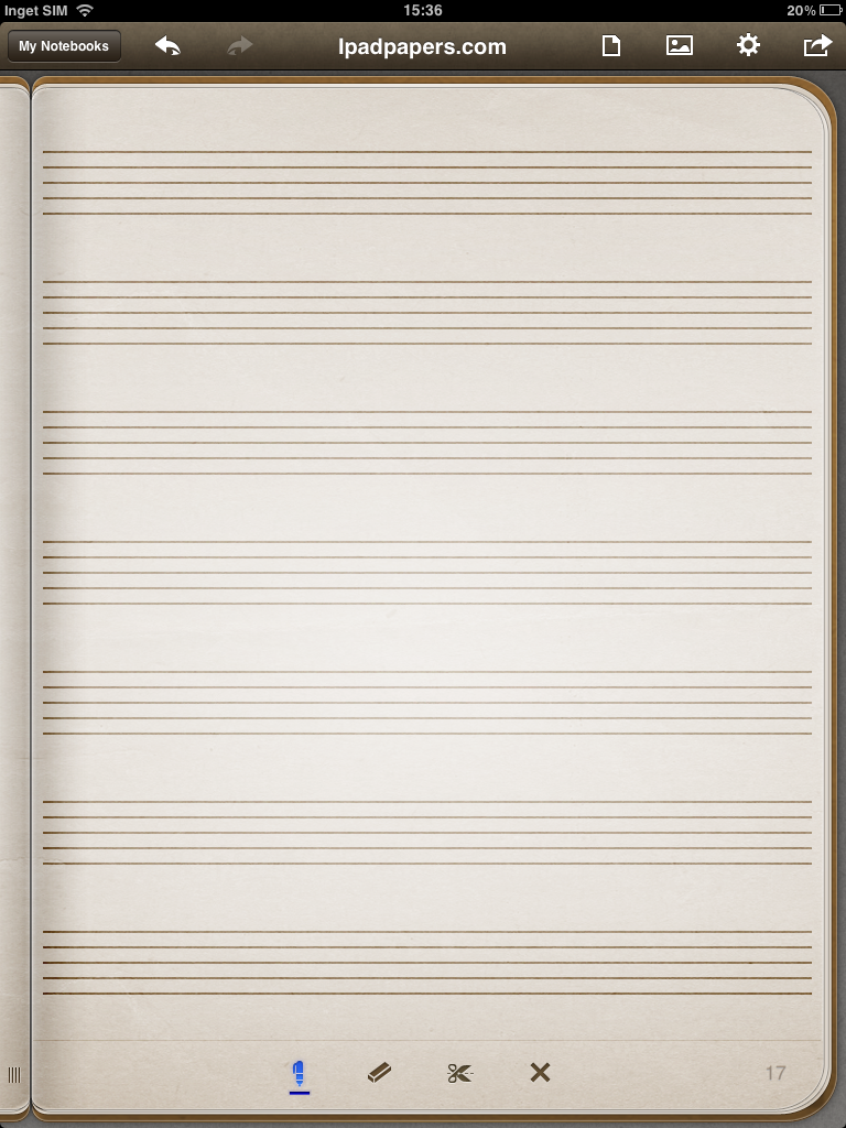 Music Staff Template