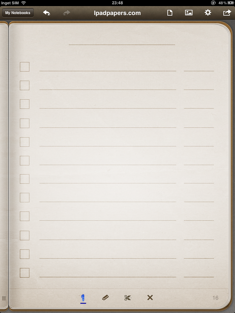 Todo checklist template for penultimate – Simple Checklist Template