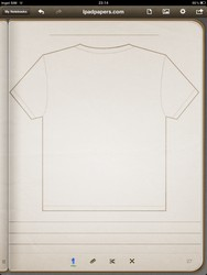 Tshirt back template Click to see larger image.